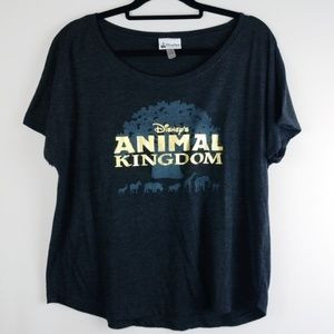 Disney Animal Kingdom Box Tee w/ Gold Lettering